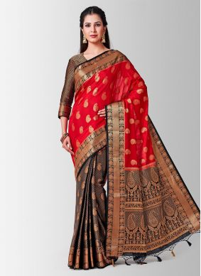 Glowing Art Silk Reception Designer Traditional Saree