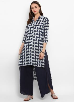 Glowing Plain Ceremonial Casual Kurti