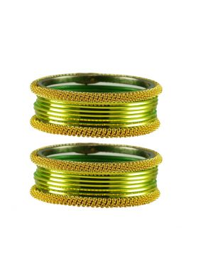 Gold and Green Bangles