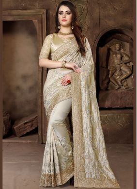 Gold Art Silk Traditional Designer Saree