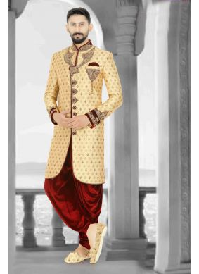 Gold Color Indo Western Sherwani