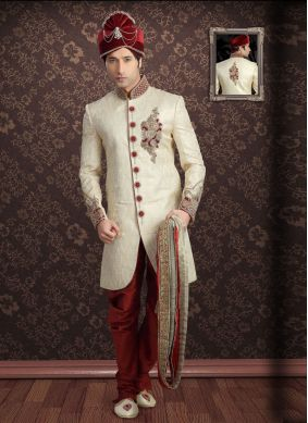 Gold Embroidered Ceremonial Indo Western