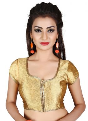 Gold Plain Sangeet Blouse