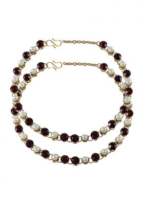 Gold Stone Work Anklet
