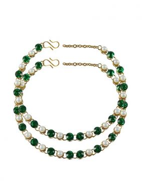 Gold Stone Work Reception Anklet