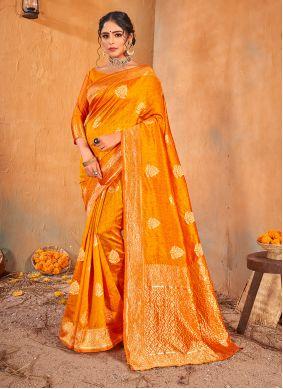 Gold Weaving Banarasi Silk Classic Saree