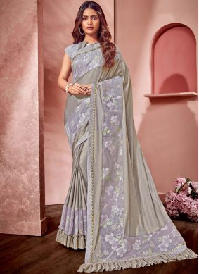 Gratifying Net Wedding Saree