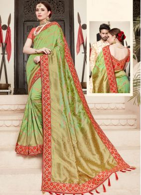Green Art Silk Bridal Designer Traditional Saree
