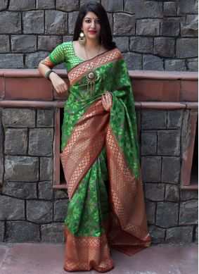 Green Art Silk Bridal Traditional Designer Saree