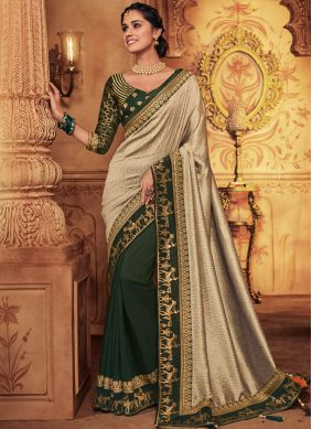 Green Art Silk Classic Designer Saree