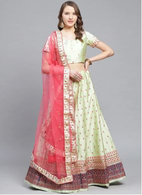 Green Ceremonial Designer Lehenga Choli