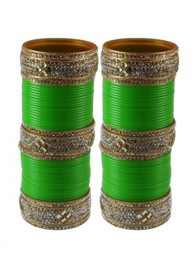 Green Color Bangles