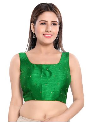 Green Color Blouse