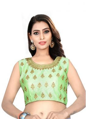 Green Embroidered Blouse