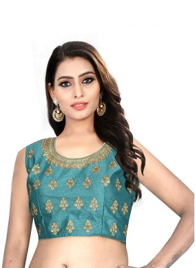 Green Embroidered Mehndi Blouse