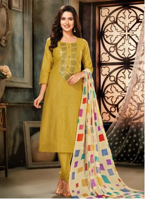 Green Embroidered Party Trendy Salwar Suit