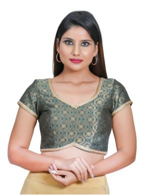 Green Embroidered Sangeet Blouse