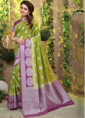 Green Fancy Fabric Designer Traditional Saree