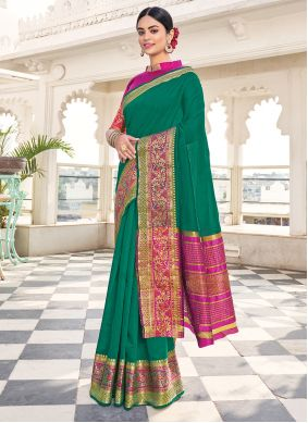 Green Khadi Silk Festival Silk Saree