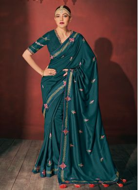 Green Party Silk Classic Saree