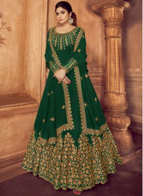 Green Party Trendy Anarkali Suit