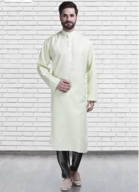 Green Poly Cotton Kurta Pyjama