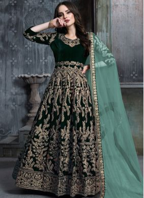 Green Reception Anarkali Salwar Suit