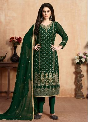 Green Resham Pant Style Suit