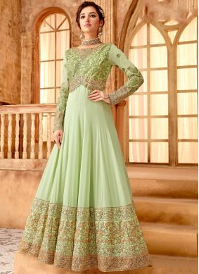 Green Sangeet Georgette Anarkali Salwar Suit