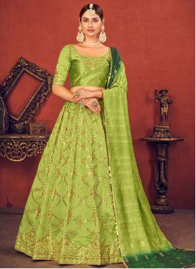 Green Sangeet Lehenga Choli