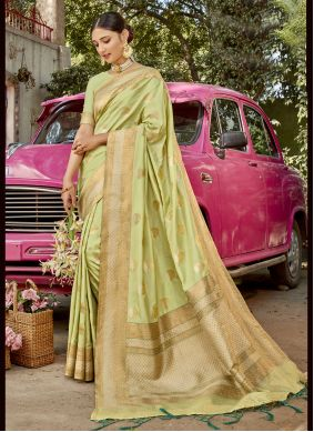 Green Sangeet Traditional Designer Saree