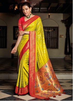 Green Silk Embroidered Designer Traditional Saree