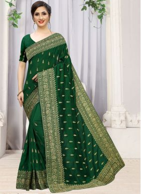 Green Silk Stone Work Traditional Saree