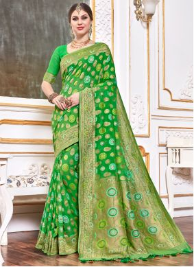 Green Wedding Designer Bollywood Saree