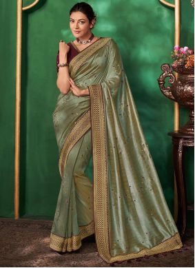 Grey Art Silk Bollywood Saree
