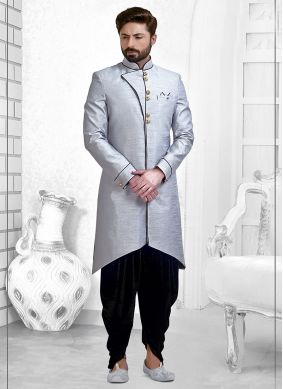 Grey Ceremonial Indo Western