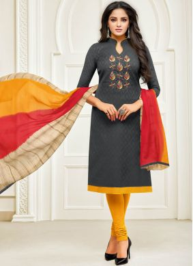Grey Churidar Designer Suit