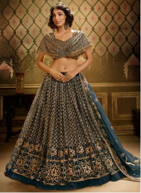 Grey Color Bollywood Lehenga Choli