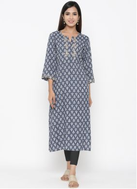 Grey Color Casual Kurti