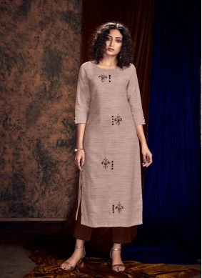 Grey Embroidered Party Readymade Salwar Kameez