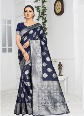 Grey Weaving Casual Saree