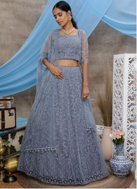 Grey Wedding Trendy Lehenga Choli