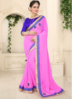Gripping Patch Border Classic Saree