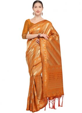 Groovy Mustard Weaving Art Silk Traditional Saree