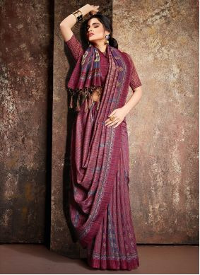 Handloom silk Digital Print Multi Colour Classic Saree