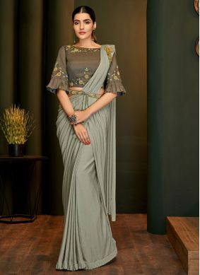Handwork Lycra Trendy Saree