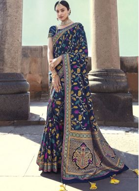 Haute Art Banarasi Silk Embroidered Designer Traditional Saree