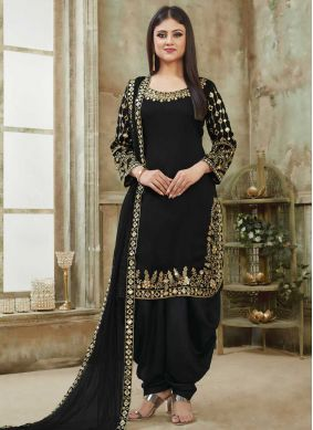 Haute Art Silk Designer Patiala Suit