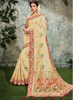 Haute Art Silk Embroidered Designer Traditional Saree