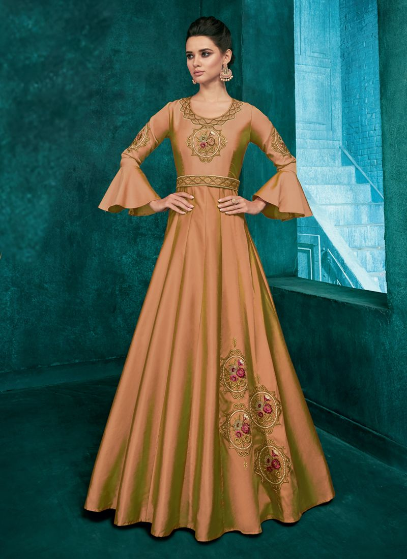 Haute Brown Readymade Gown